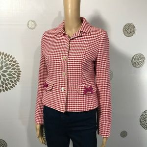 Brooks Brothers Red White Pink Blazer with Bows